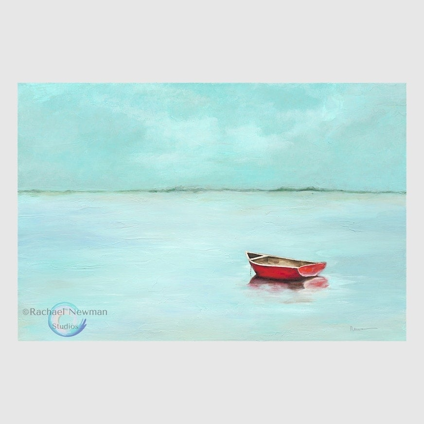 Red Boat by Rachael Newman 1000x1000 R GB WM