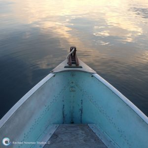 Blue Boat at Dawn by Rachael Newman