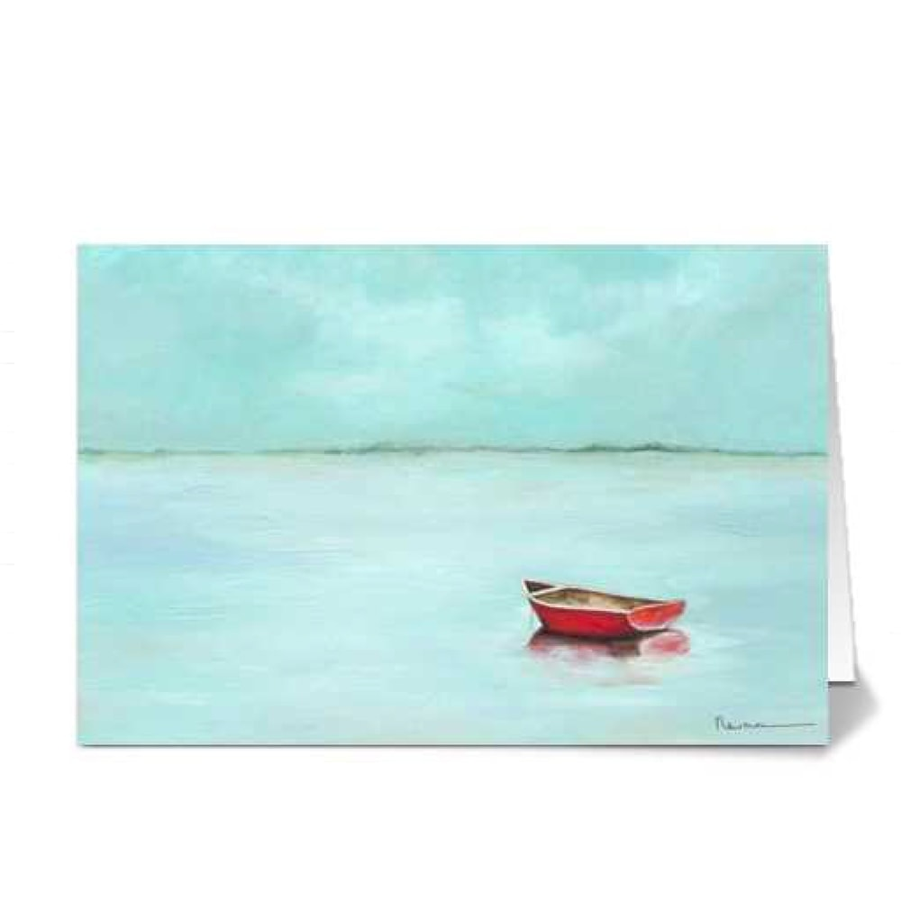 Red Boat by Rachael Newman 4x6 Card