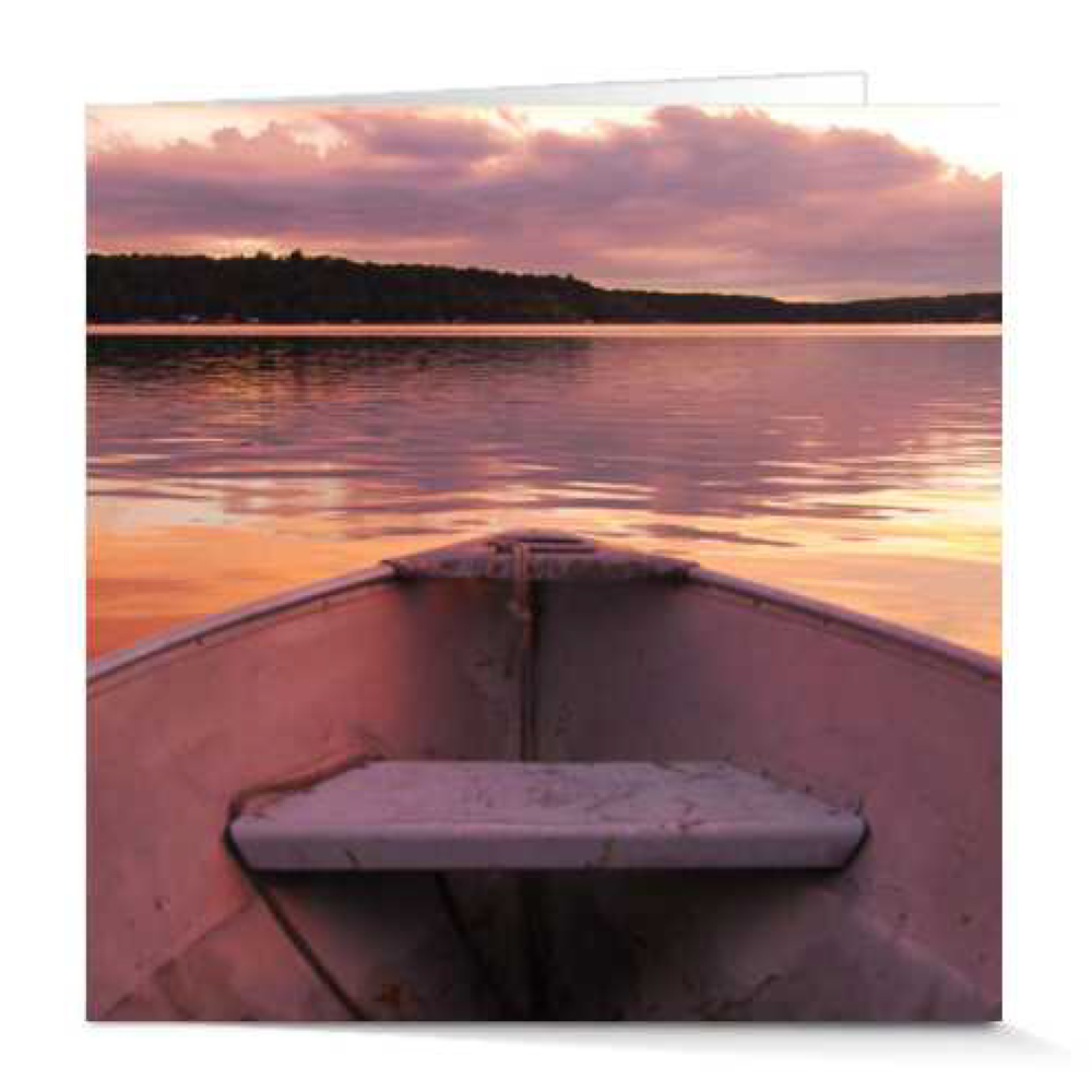 Afloat at Sunset by Rachael Newman 5x5 Card