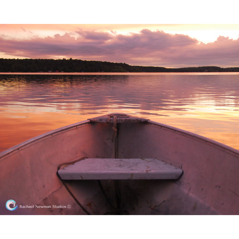 Afloat at Sunset by Rachael Newman