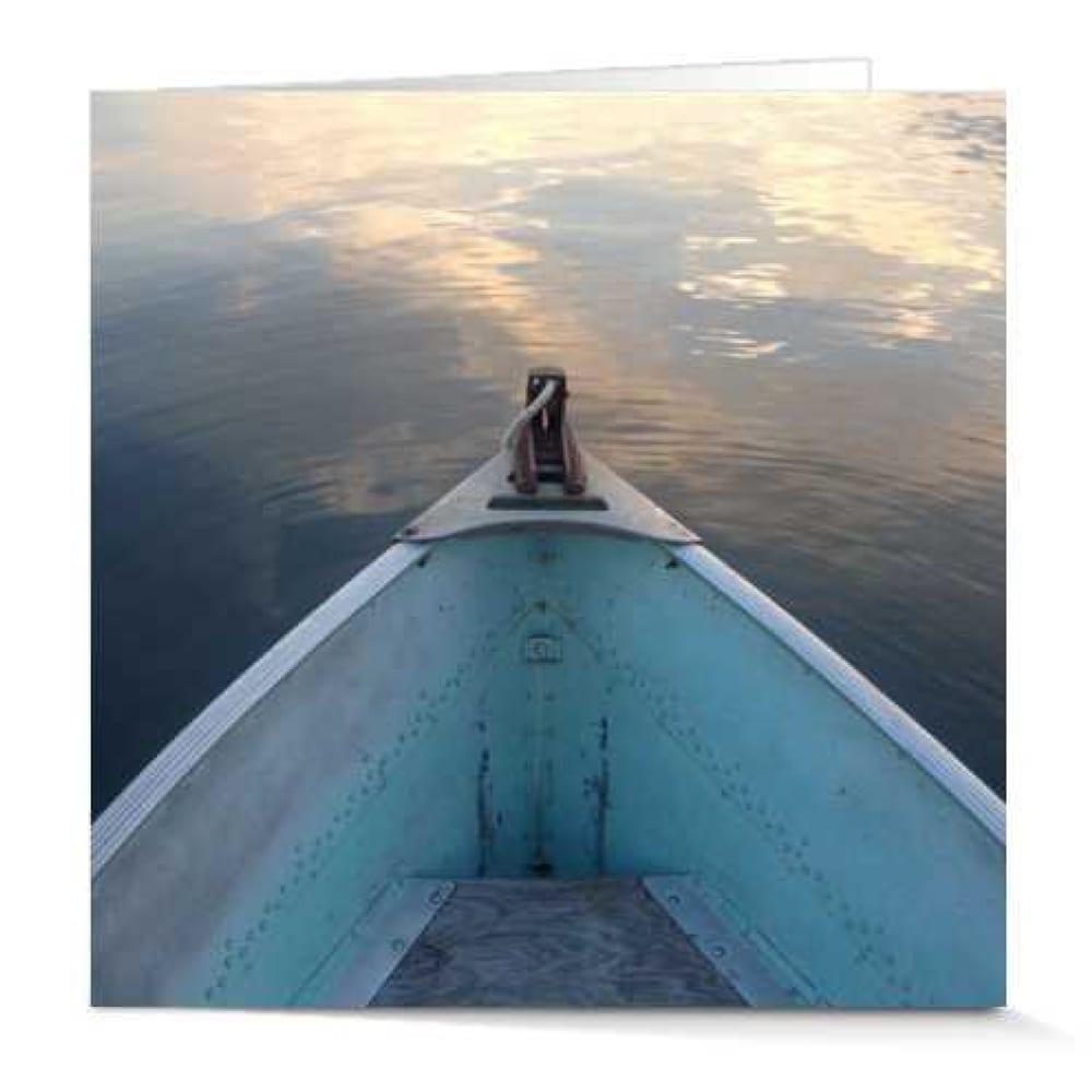 Blue Boat at Dawn by Rachael Newman 5x5 Card