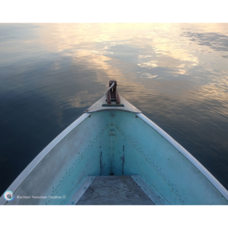 Blue Boat at Dawn by Rachael Newman