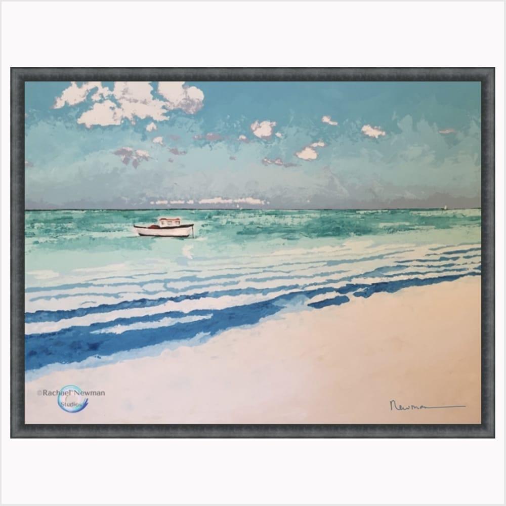 In the Bay by Rachael Newman Dk Gray Frame 1000x1000 GBB